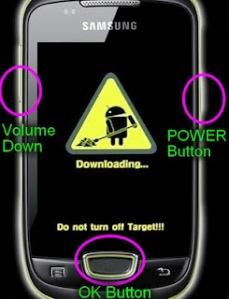 Samsung Galaxy Mini S5570 Download mode picture